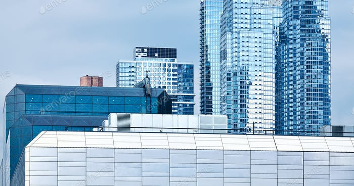Modern architecture of New York.