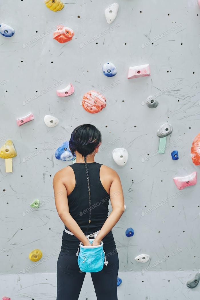 Vorbereitung für das Klettern