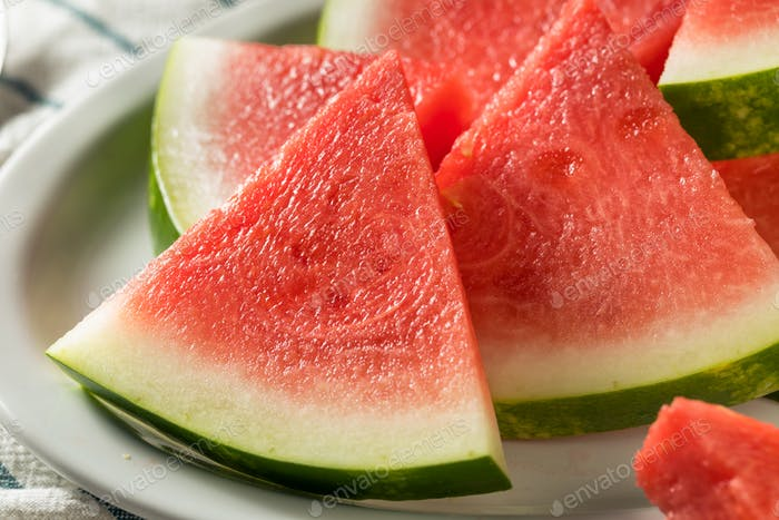 Raw Organic Pink Watermelon Slices