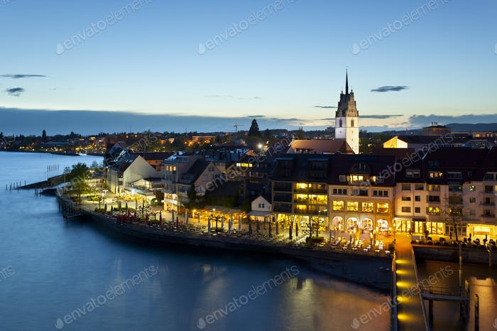 Friedrichshafen, Germany At Night