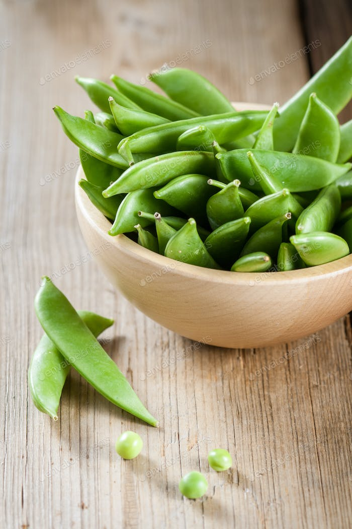 Green peas in a pods