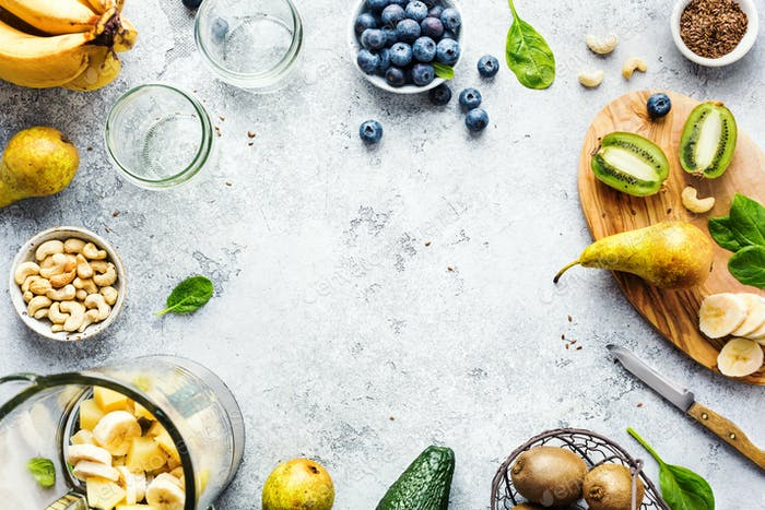 Ingredients for fruit smoothies