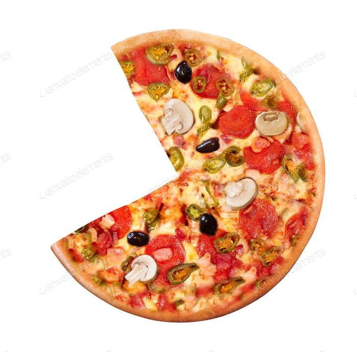 High Angle View of Fresh Baked Pizza