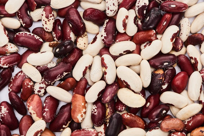 Top View of Mix of Organic Beans