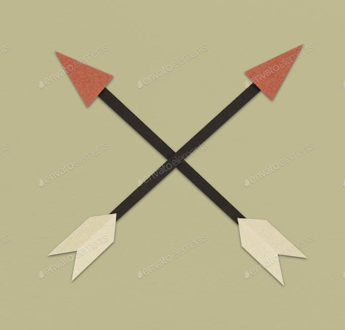 Symbol für Pfeil-Bogenschießrichtung