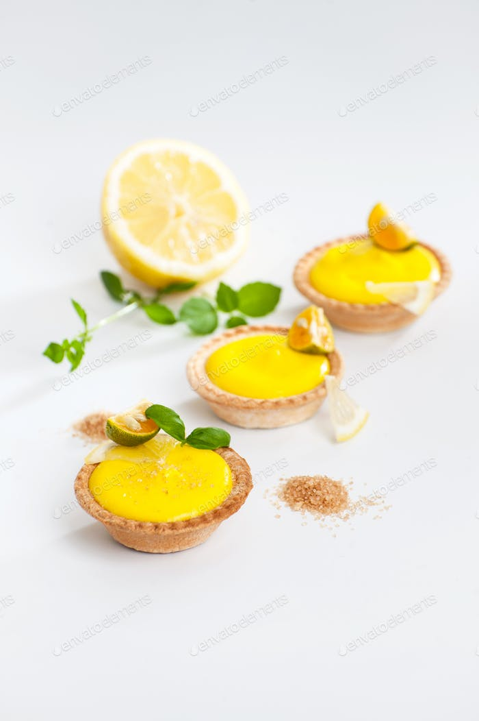 Tartlets with creamy lemon custard.