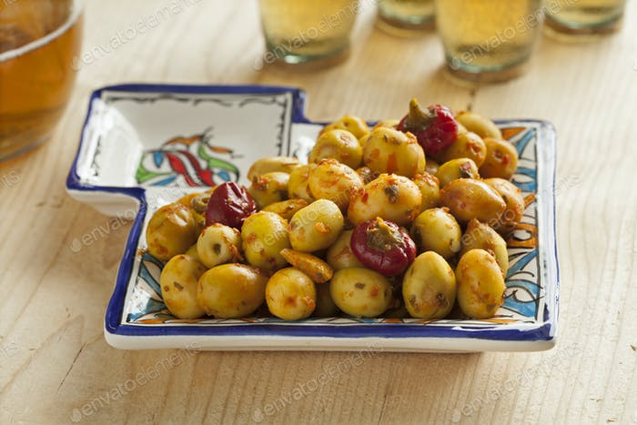 Moroccan pickled olives