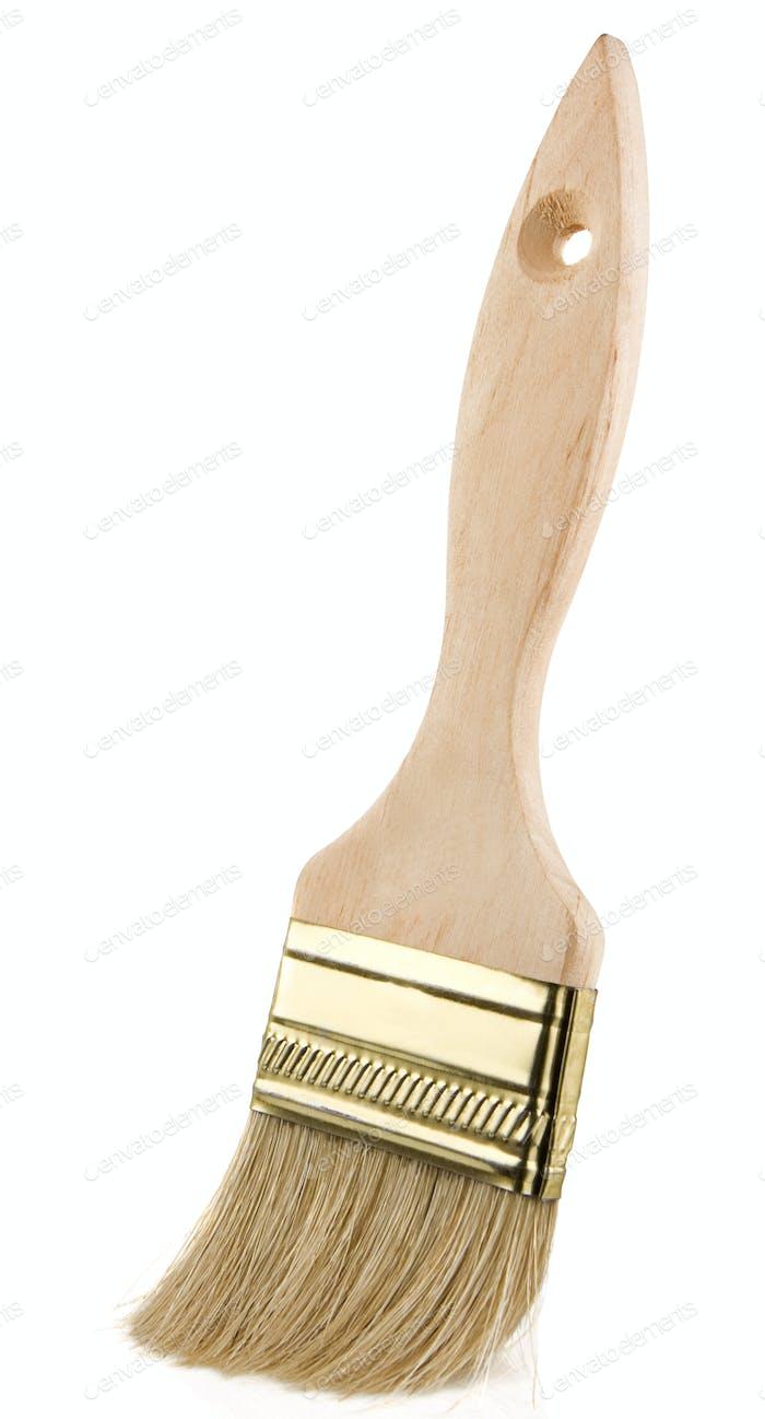 wood paintbrush isolated on white background