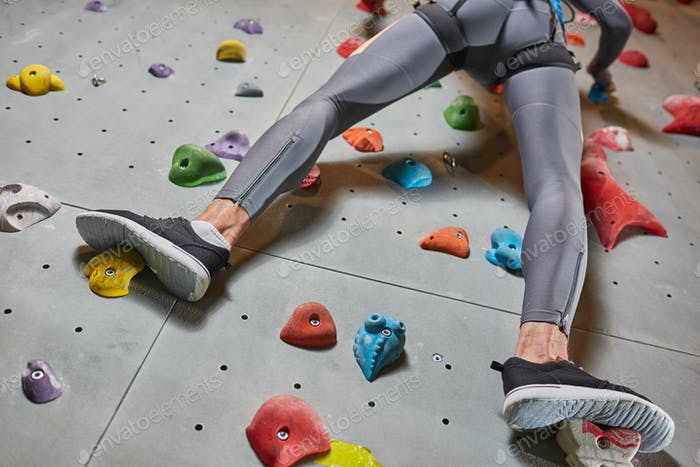 Legs of climber