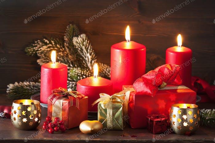 Weihnachten Adventskerzen Laterne Dekoration