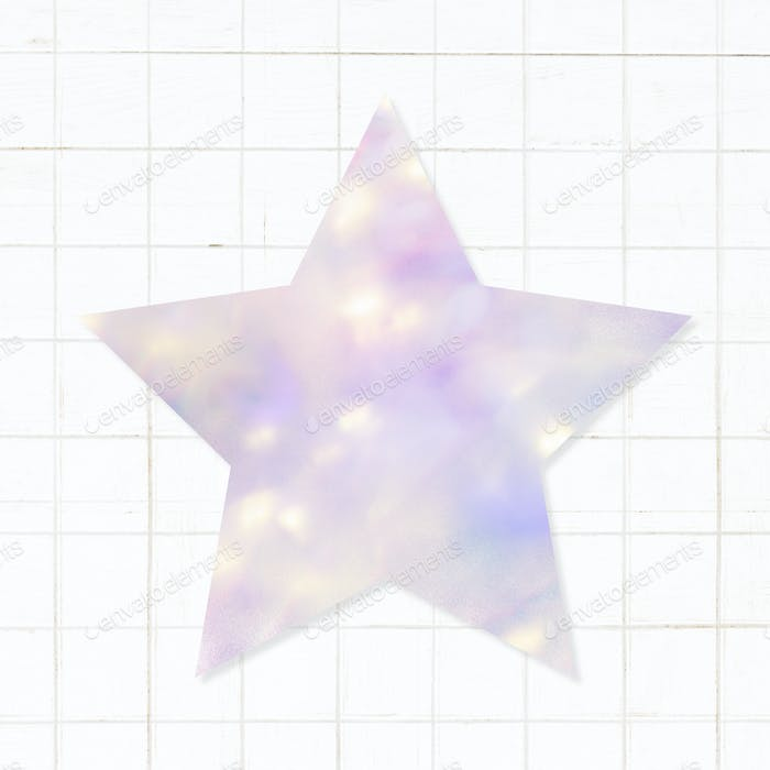 Star shaped bokeh patterned sticker design element