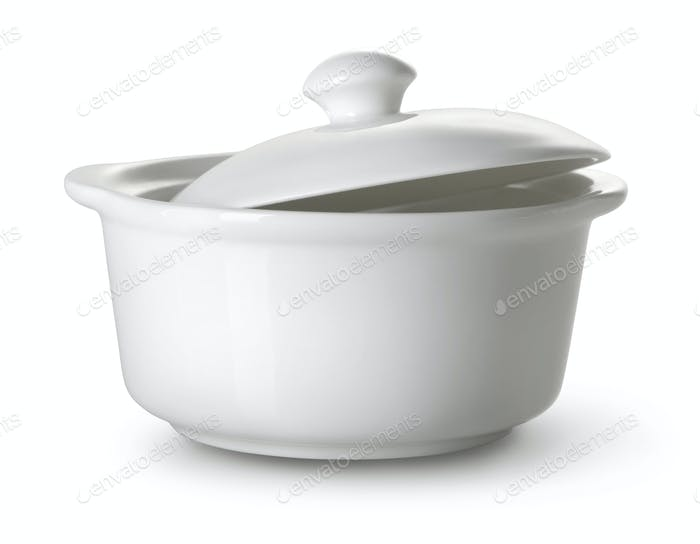 White ceramic tureen