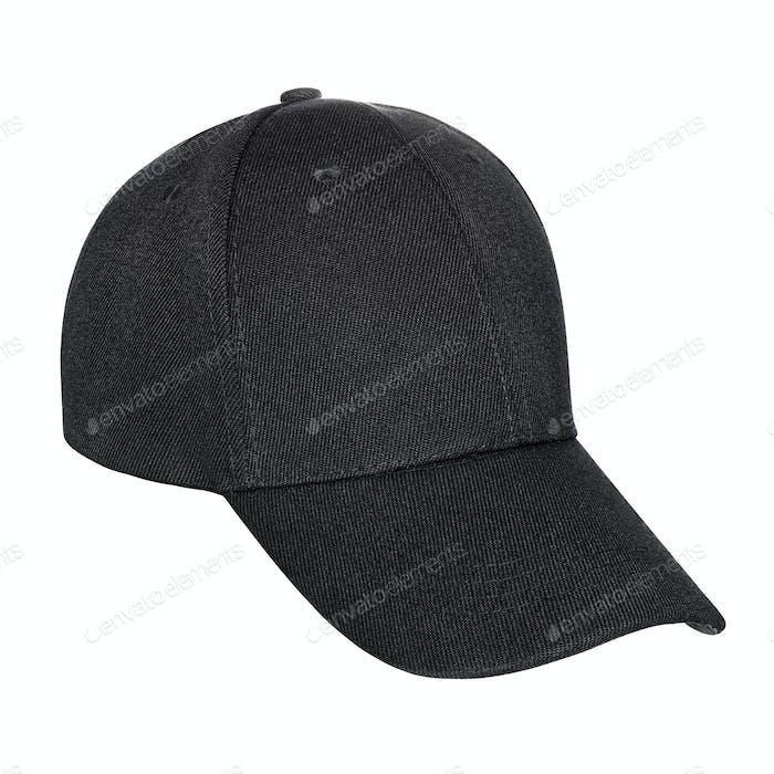 Black baseball cap isolated
