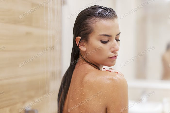 Beauty woman under the shower