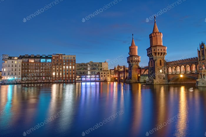 Oberbaum Bridge and River Spree