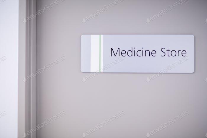 Entrance of medicine store