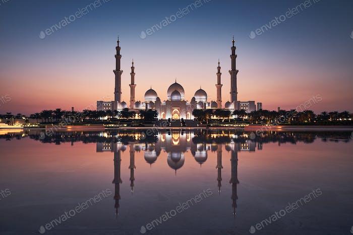 Abu Dhabi at dusk