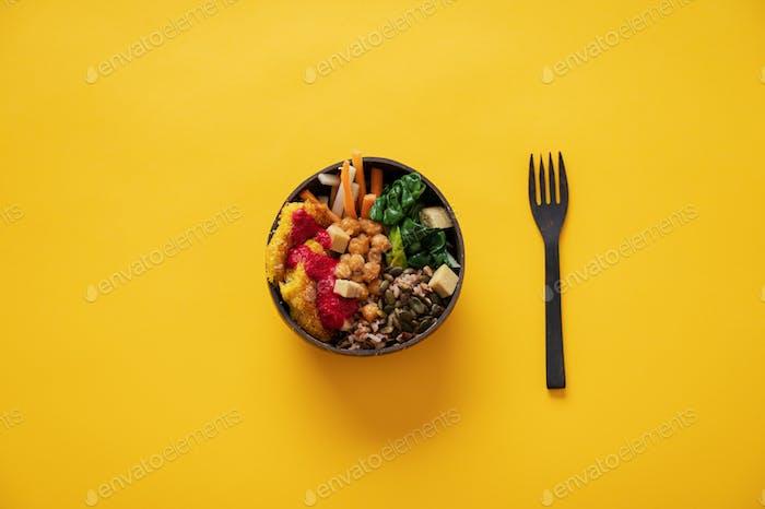 Nahrhaftes veganes Essen