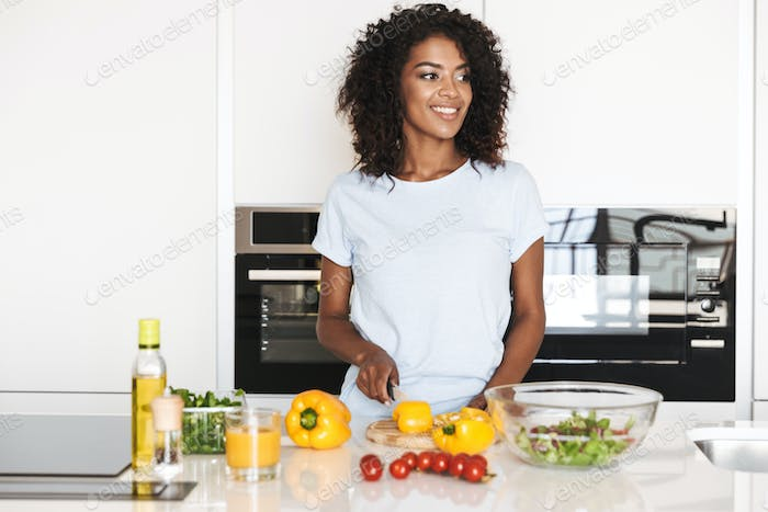 Portrait of a smiling afro american woman
