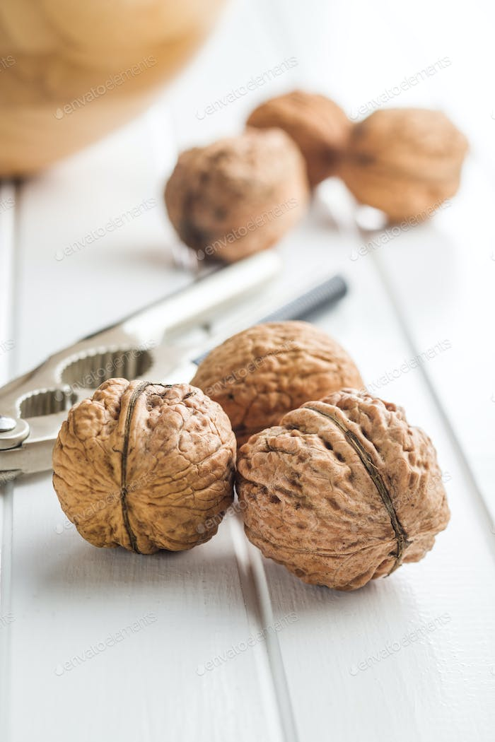 Tasty dried walnuts.
