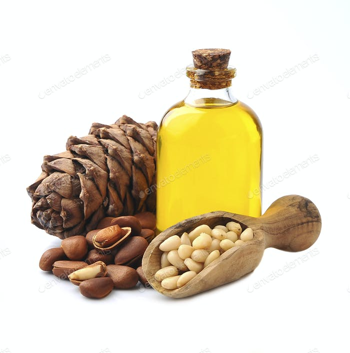 Pine oil with pine nuts