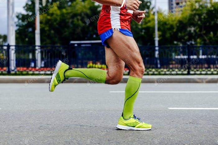 Füße Sportler Mann Laufen