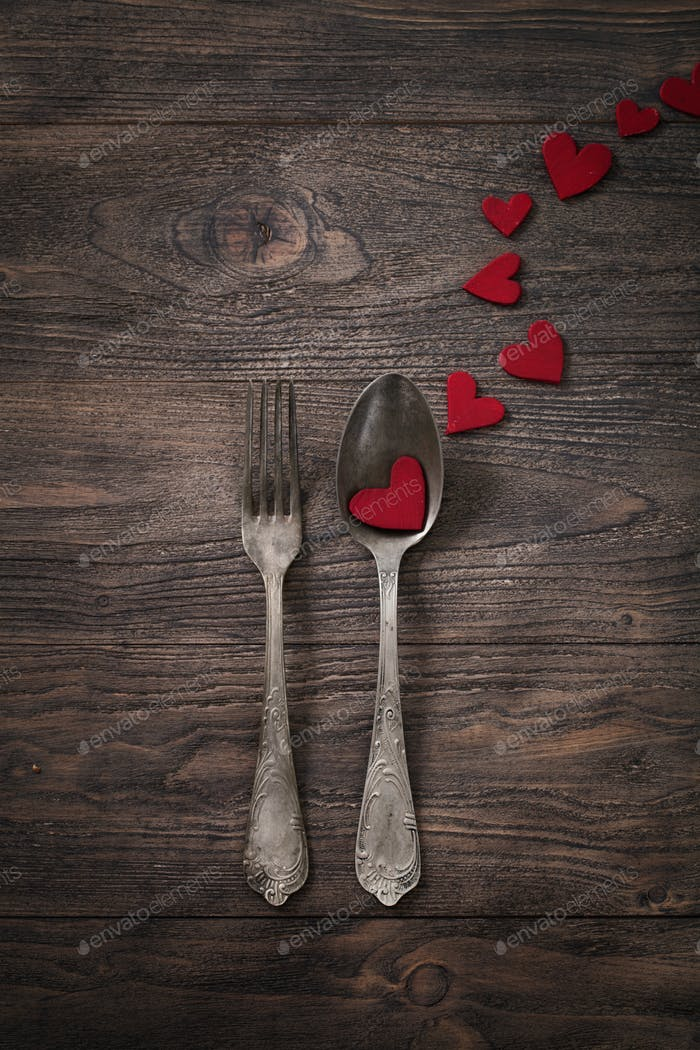 Cutlery with hearts