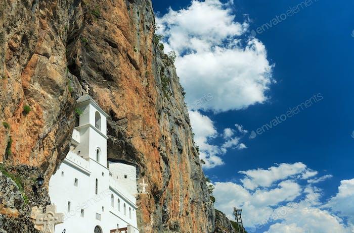 Montenegro,  view on Ostrog ortodox Monastery