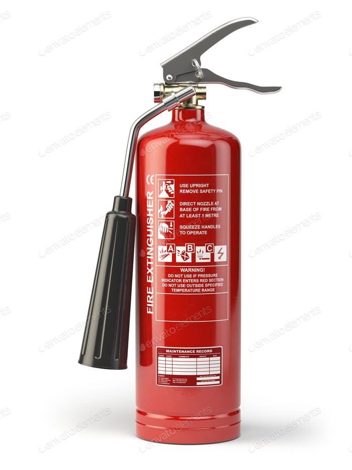 Thumbnail for Fire extinguisher isolated on white background.