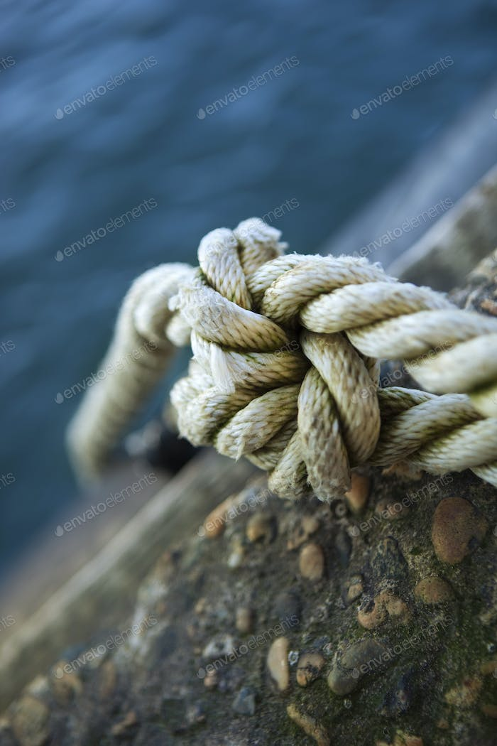 Tied rope