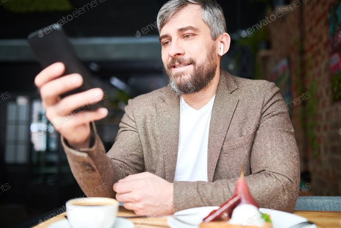 Reading message in smartphone