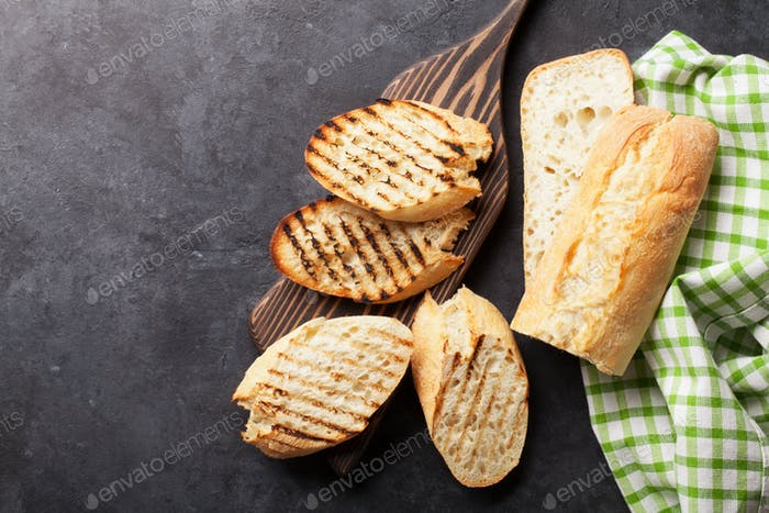 Ciabatta toast bread