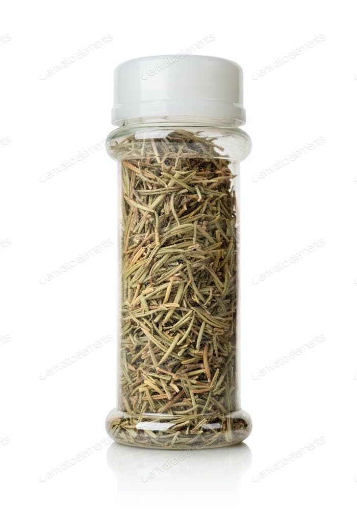 Rosemary in a glass jar