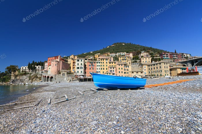seaside in Sori, Italy