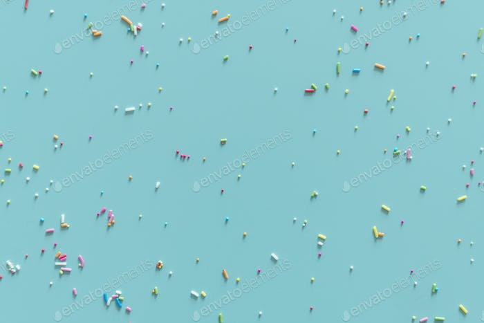 Blue wallpaper with sprinkles