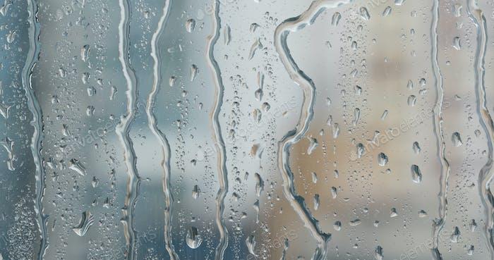Starker Regen draußen