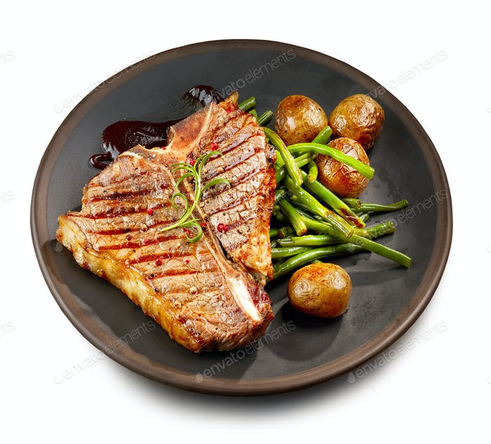 freshly grilled T bone steak
