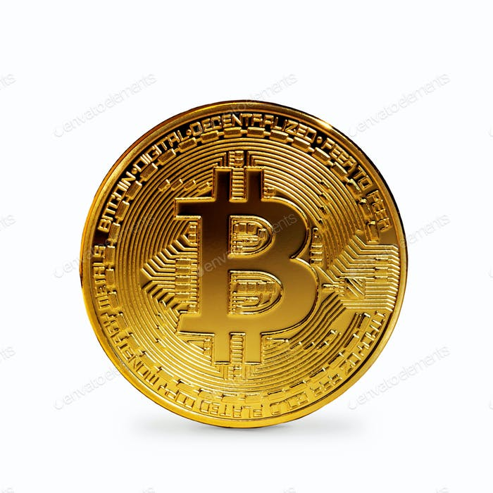 Bitcoin coin isolated