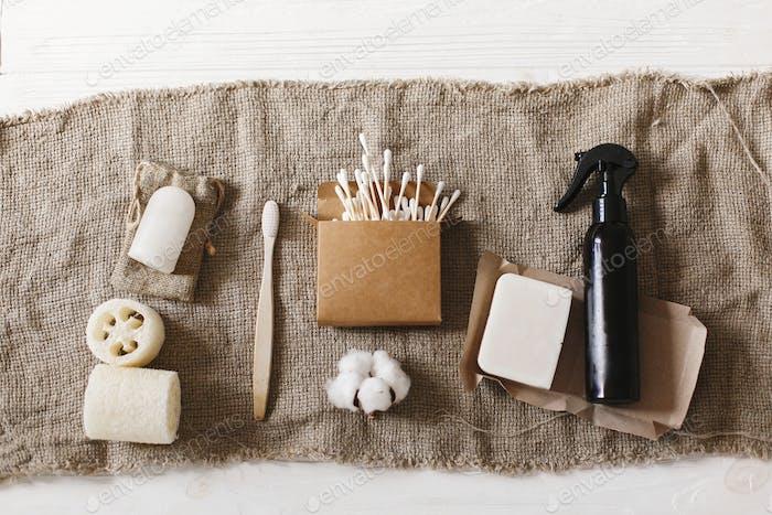 Plastikfreie Gegenstände für die persönliche Hygiene