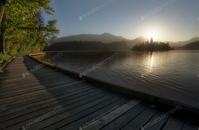 Bled Lake Board Walk