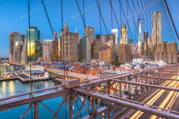 New York, USA Lower Manhattan skyline