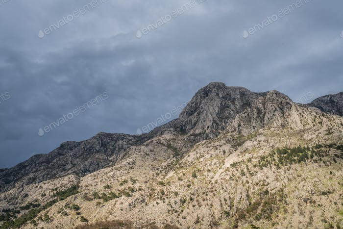 Mountain landscape in the Bay of Kotor