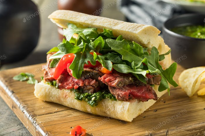 Homemade Beef Steak Sandwich