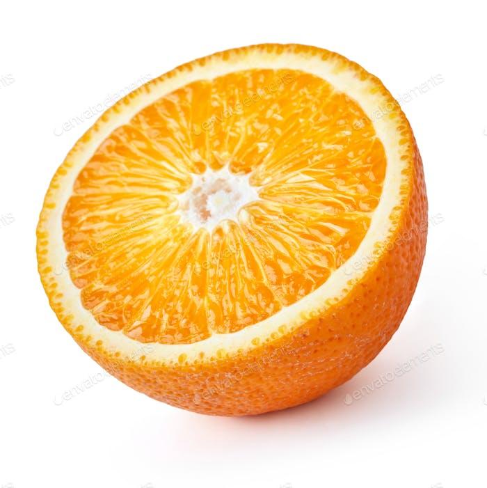 Die Hälfte der Orange