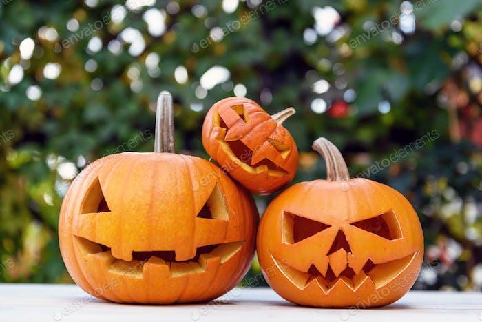 Concepto tallado de Halloween