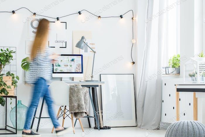 Designer's scandi home office