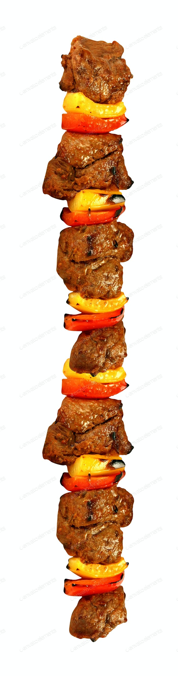 kebab isolated on white background