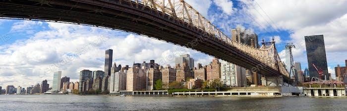 NYC Queensboro Bridge Panorama