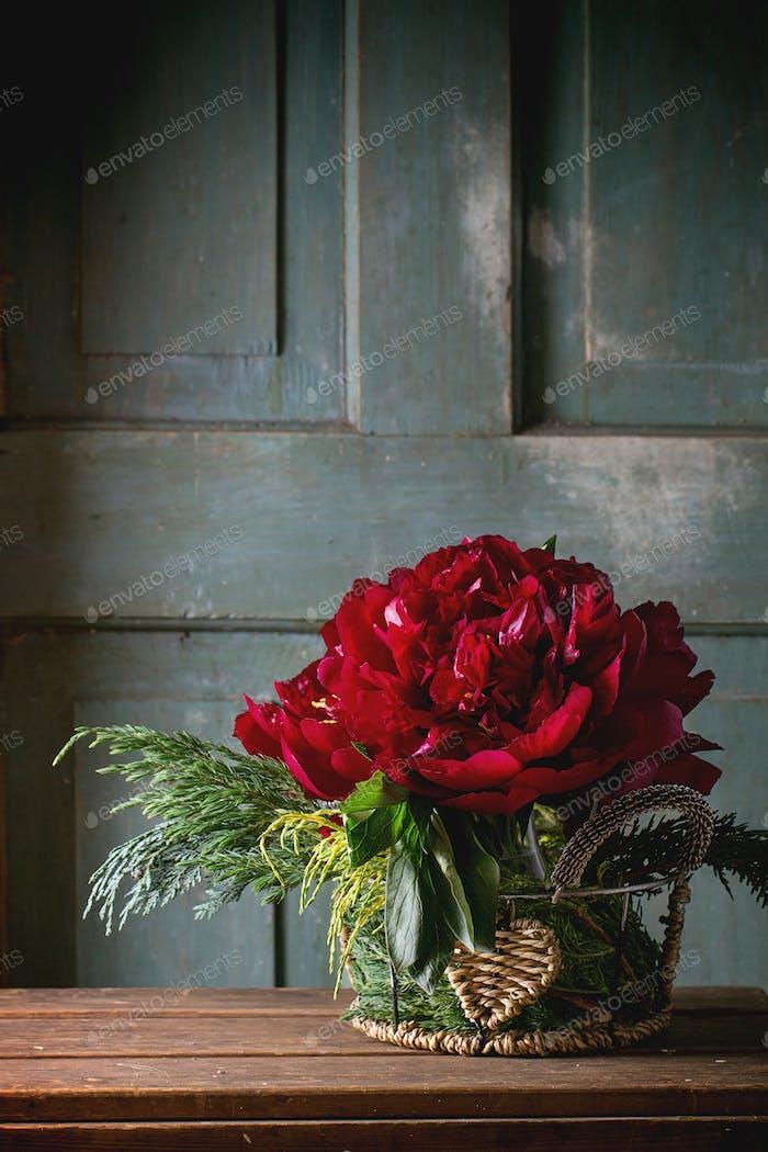 Blumenstrauß mit Pfingstrosen