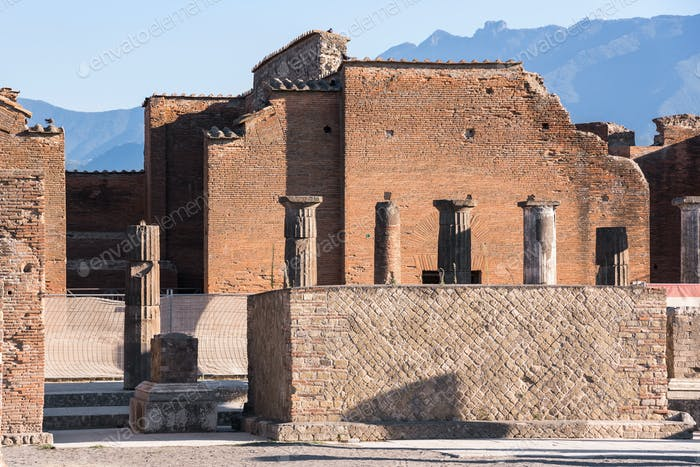 Town centre of Pompeii ancient city